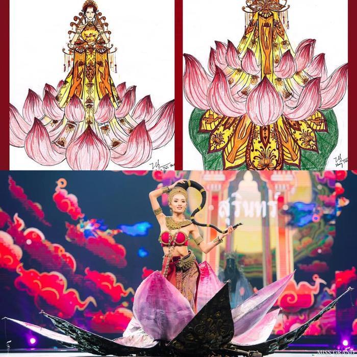 Loạt trang phục dân tộc Miss Grand Thailand có cùng cảm hứng với National Costume của Hoàng Thùy ảnh 9