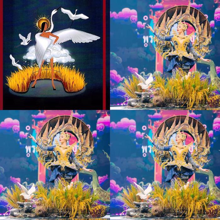 Loạt trang phục dân tộc Miss Grand Thailand có cùng cảm hứng với National Costume của Hoàng Thùy ảnh 11