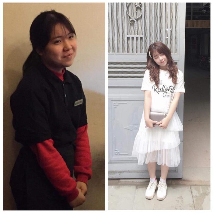 Thu Trang thành công khi 2 tháng giảm được 10kg.