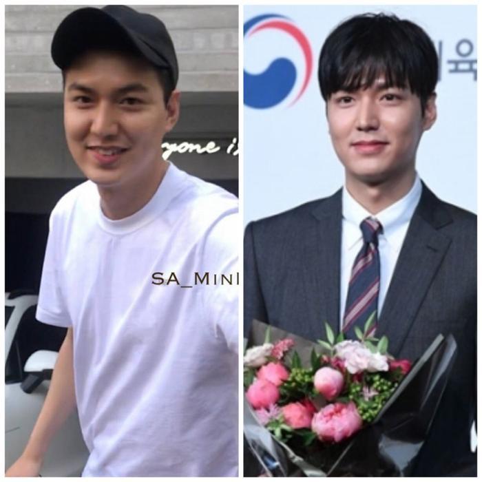 Hình ảnh khuôn mặt Lee Min Ho vừa mới xuất ngũ và khuôn mặt hiện tại