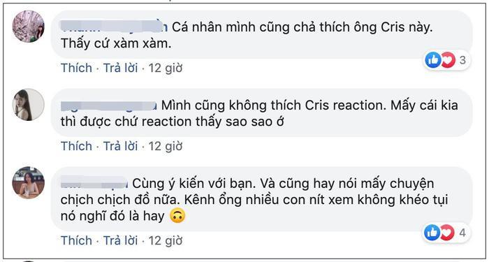 Làm clip reaction MV của Hãy trao cho anh, Cris Phan khiến fan thất vọng khi dùng từ ngữ body shaming người mẫu nữ một cách vô duyên ảnh 7