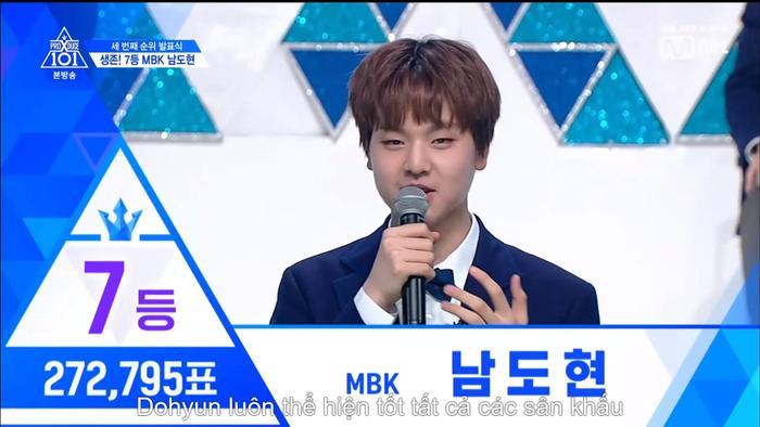 Hạng 7 có 272795 vạn phiếu. Và đó là Nam Dohyon nhà MBK.