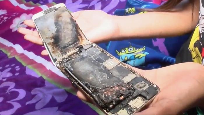 Một chiếc iPhone 6 của bé gái 11 tuổi lại bốc cháy dữ dội ảnh 0