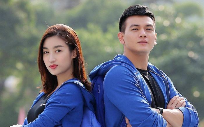 """Đỗ Mỹ Linh và người bạn đồng hành Lê Xuân Tiền trong """"Cuộc đua kỳ thú""""."""