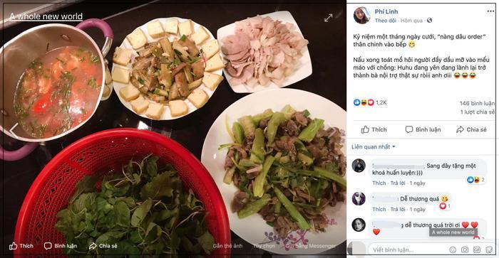 Tròn 1 tháng cưới chồng, MC Phí Linh mếu máo than trời vì nấu ăn quá khó ảnh 0