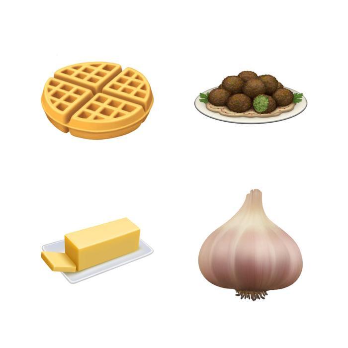 Còn đây là một số emoji có liên quan đến đồ ăn sẽ xuất hiện.