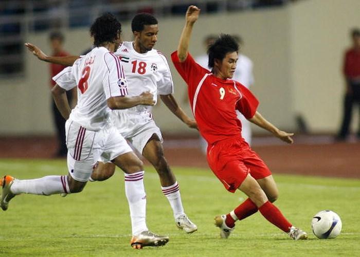 Công Vinh và đồng đội từng có cơ hội chạm trán UAE lần đầu tại Asian Cup 2007.