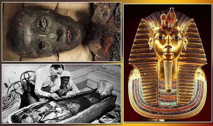 Lăng mộ của vị vua triều đại thứ 18 tại Thung lũng các vị vua ở Luxor năm 1922.