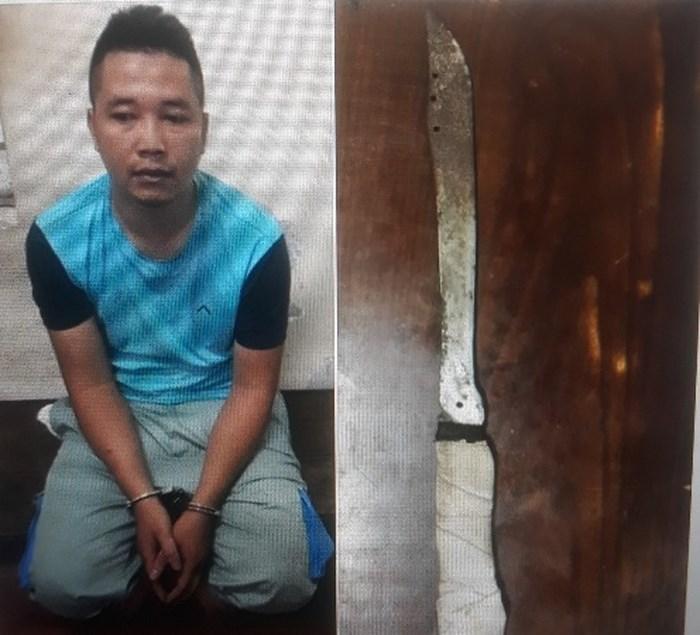 Thanh niên mang dao xông vào cửa hàngViettel cướp 100 triệu đồng. (Ảnh: ANTĐ).