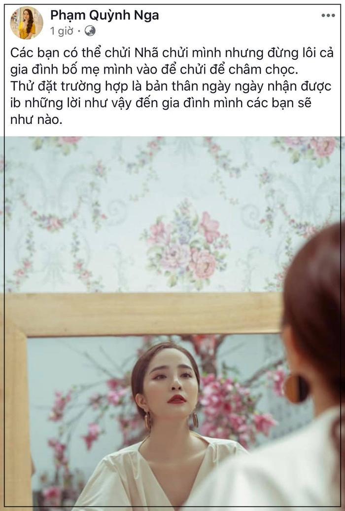 Bị anti fans lôi cả bố mẹ ra chửi và thi nhau bodyshaming, Quỳnh Nga phải lên tiếng trên trang cá nhân ảnh 5