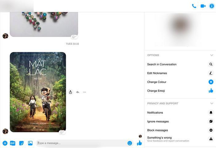 Giao diện mới của Facebook Messenger trên máy tính có thiết kế tối giản hơn với phông nền toàn màu trắng.