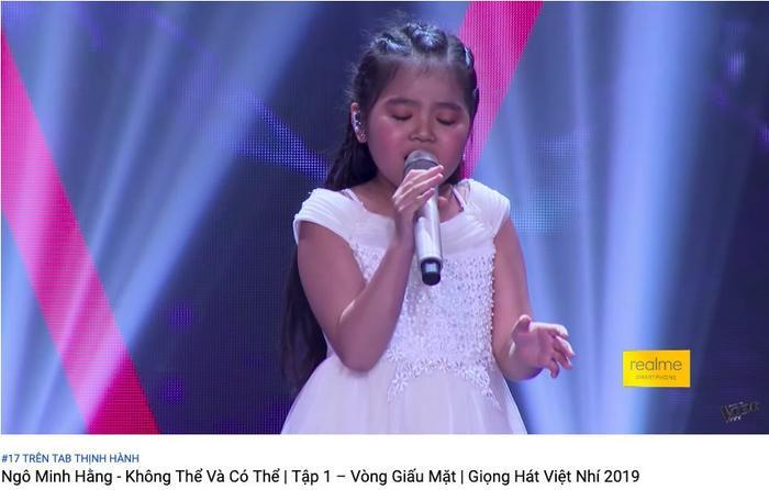 Phần dự thi của Minh Hằng gây bão Youtube và lọ Top 17 Youtube Trending.