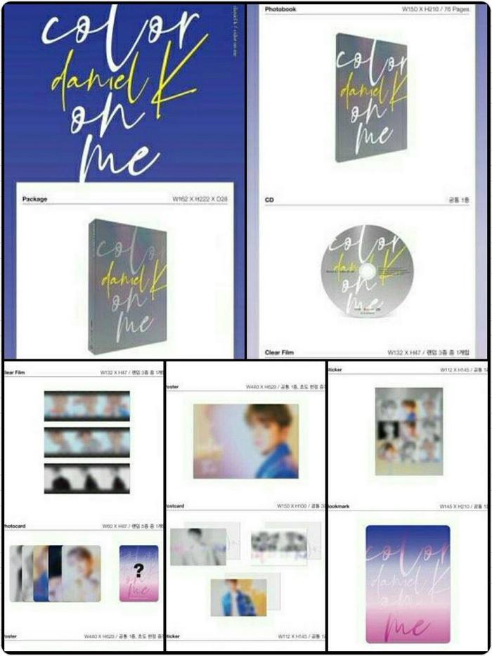 Hình ảnh chi tiết album solo của Kang Daniel.
