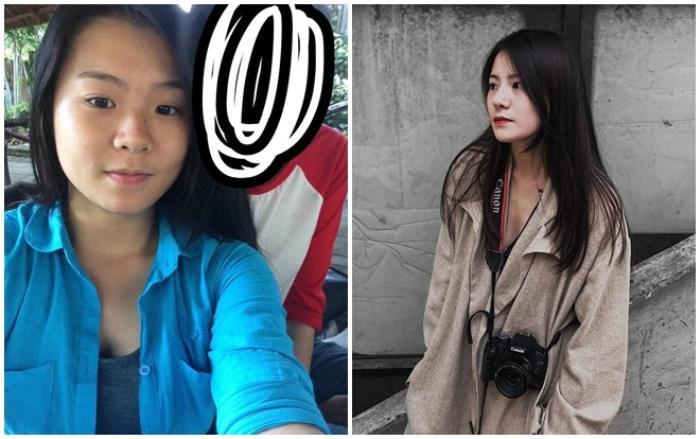 Before và After của Thuỳ Trang.