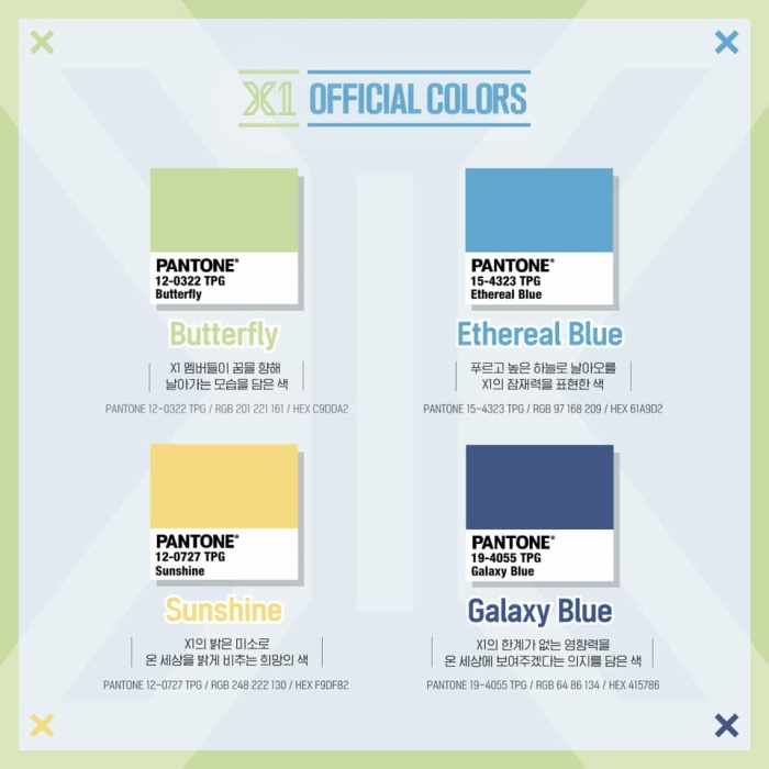 X1 công bố màu đại diện của nhóm và ý nghĩa mà nó mang lại trước ngày ra mắt! ảnh 1