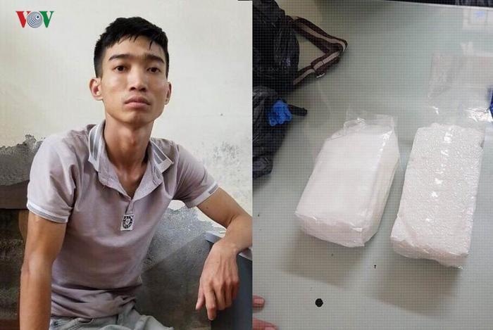 Đối tượng Nguyễn Khắc Cường vận chuyển ma túy trên taxi từHòa Bình về Hải Dương tiêu thụ. (Ảnh: VOV).