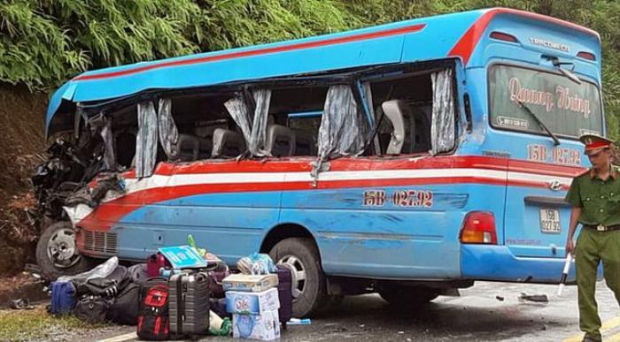 Hiện trường vụ tai nạn ở Tuyên Quang.