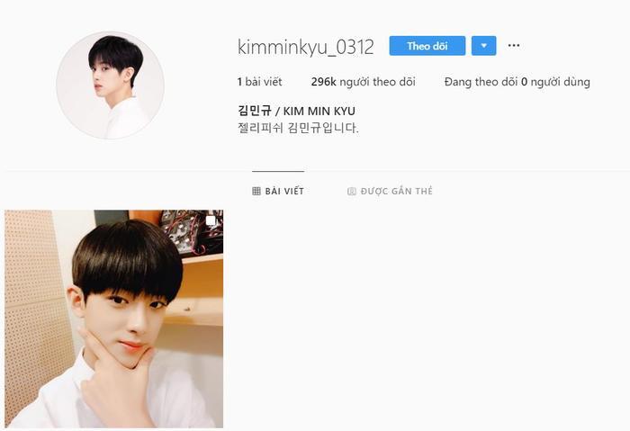 Tài khoản của Kim Min Kyu.