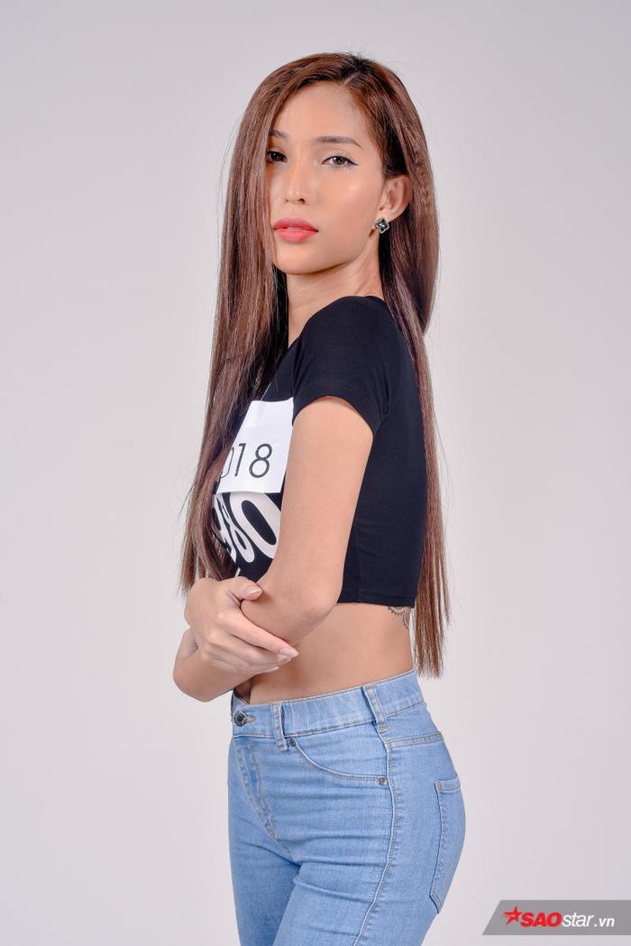 Thí sinh Vicky Trần tại buổi tuyển sinh Siêu mẫu Việt Nam 2019.