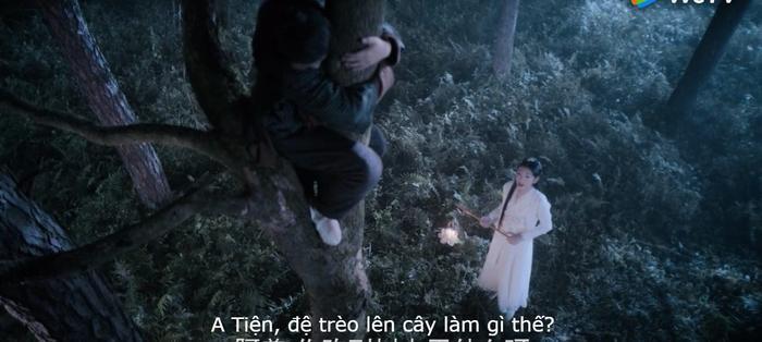 Sư tỷ nửa đêm nửa hôm đi tìm Ngụy Anh trong vườn cây vì sợ hắn xảy ra chuyện