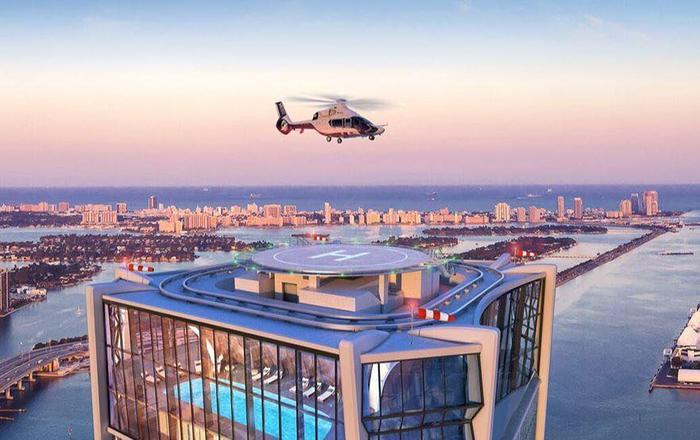 Hình ảnh mô phỏng của tòa nhà có căn hộ triệu đô mà vợ chồng Beck-Vic đang để mắt tới