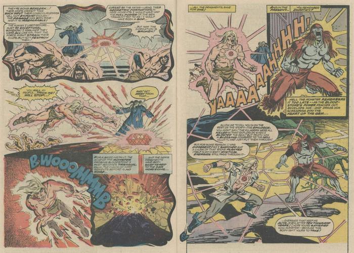 """Ulysses lao vào viên đá, trong """"Marvel Presents #2"""""""