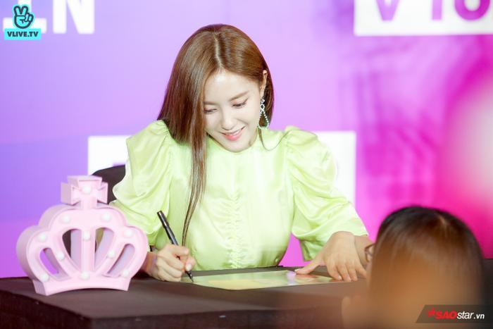 Có fan còn dành tặng cô nàng cả chiếc đèn vương miện của T-ara.