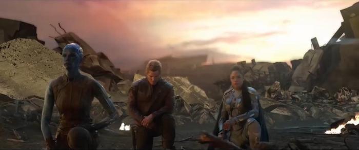 Nebula, Star-Lord hay Valkyrie, tuy chỉ chiến đấu bên Tony một thời gian ngắn nhưng cũng ngậm ngùi trước sự hi sinh này.