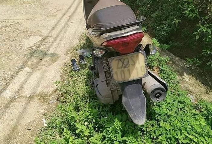 Chiếc xe máy chị Q. bỏ lại