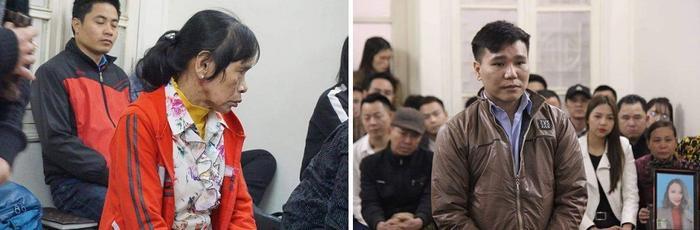 Hình ảnh Châu Việt Cường với mẹ hôm xét xử con trai.