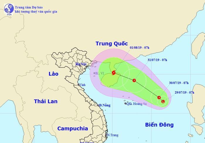 Xuất hiện vùng áp thấp trên Biển Đông, có khả năng mạnh lên thành bão. Ảnh: Trung tâm Khí tượng Thủy văn Quốc gia