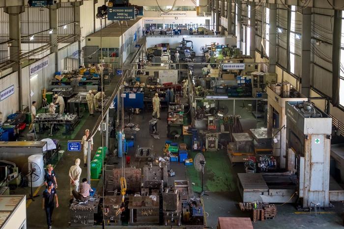 Nhà máy của Vietnam Precision Mechanical Service & Trading tại Bắc Ninh. Công ty này từng là đối tác của Samsung khi Samsung mới mở nhà máy tại Việt Nam. (Ảnh: New York Times)
