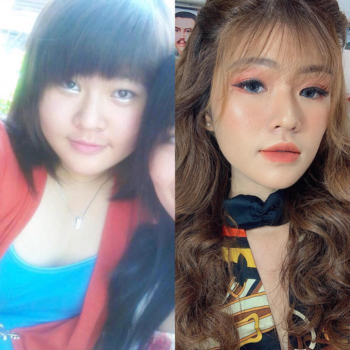 Hình ảnh trước và sau khi giảm cân thành công của Minh Diệu.