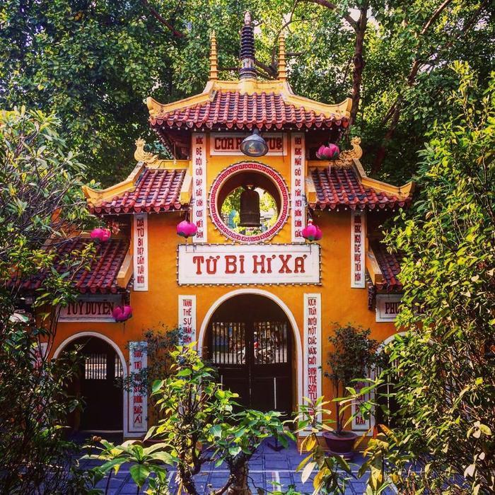 Cổng chùa Quán Sứ. (Ảnh: IG/irvanpersie)