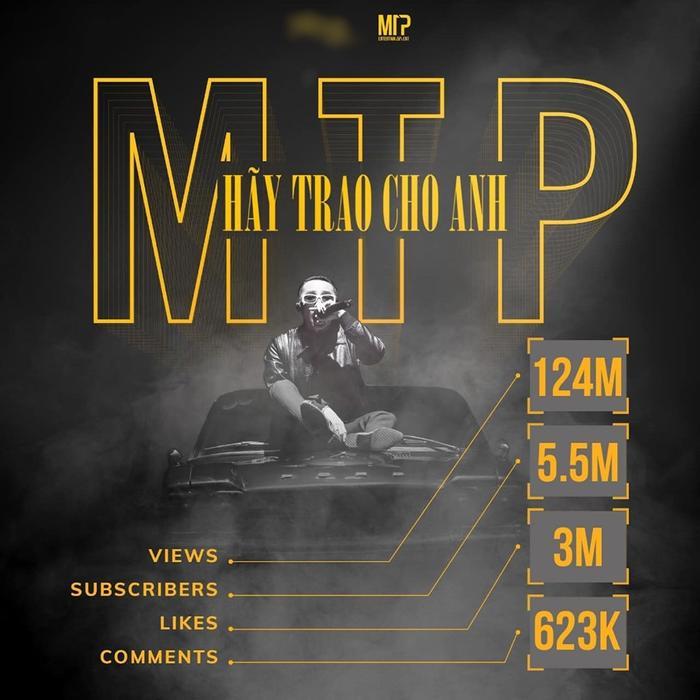 Hình ảnh số liệu thu được về từ sản phẩm Hãy trao cho anh mà Sơn Tùng M-TP đăng tải trên trang cá nhân.