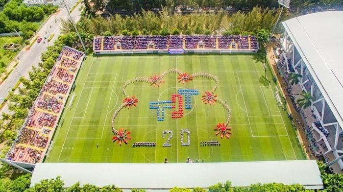 Vào đầu tháng 2 năm nay, Đội tuyển U22 Việt Nam cũng đã đến đây tập luyện nhằm chuẩn bị cho Giải vô địch bóng đá U22 Đông Nam Á diễn ra tại Cambodia