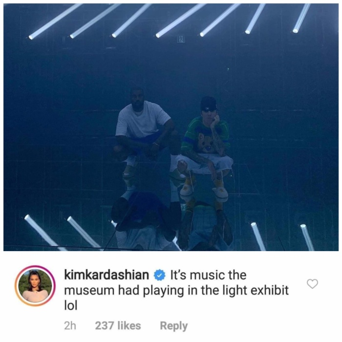 Kim cho biết, đây chỉ là phần âm nhạc và lyrics được dùng trong một lễ hội ánh sáng mà thôi.