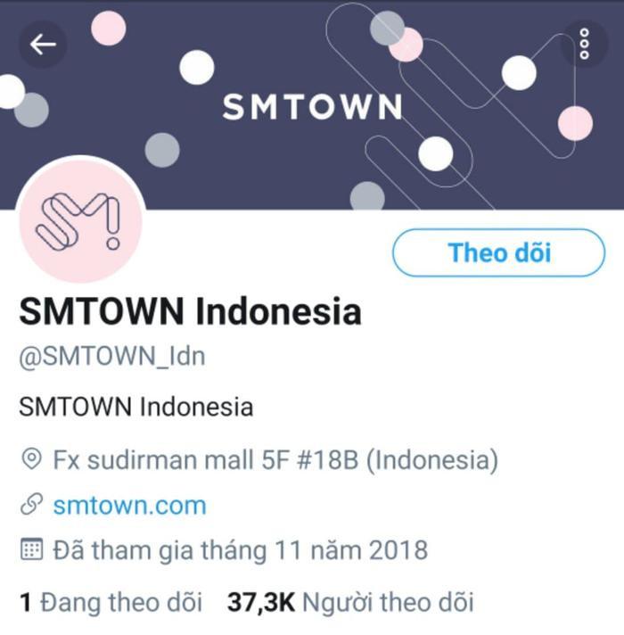 Và tài khoản SMTOWN Indonesia.