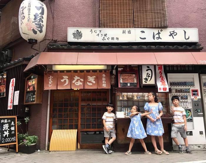 2 con trai của Đan Lê và 2 con gái của Hồng Đăng trong chuyến du lịch Nhật Bản vừa qua