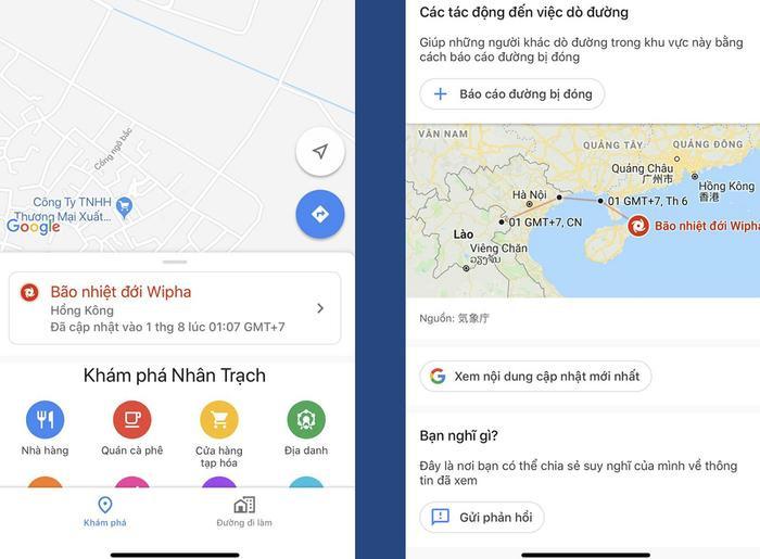 Dù không hiển thị chi tiết sức gió, lượng mưa, nhiệt độ,… như các ứng dụng thời tiết nhưng theo đánh giá của đa số người dùng, tính năng báo bão của Google Maps là khá hữu ích.