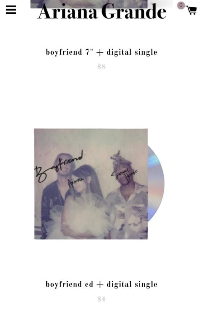 Và rẻ nhất là bản CD và nhạc số có giá 4 USD.