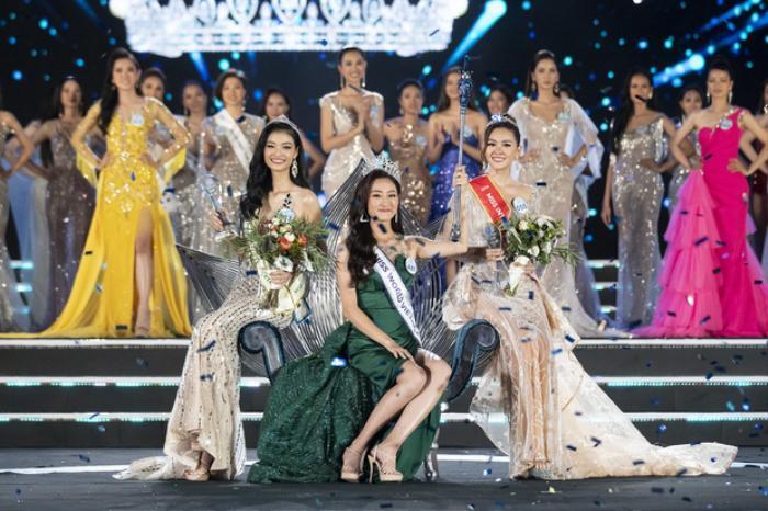 Tân Hoa hậu Lương Thuỳ Linh, Á hậu 1 thuộc về Nguyễn Hà Kiều Loan, Á hậu 2 Nguyễn Tường San.