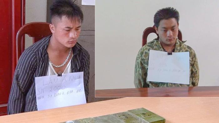 Hai anh em ruột vận chuyển trái phép 6 bánh herointừ Lào về Việt Nam tiêu thụ. (Ảnh: VOV).