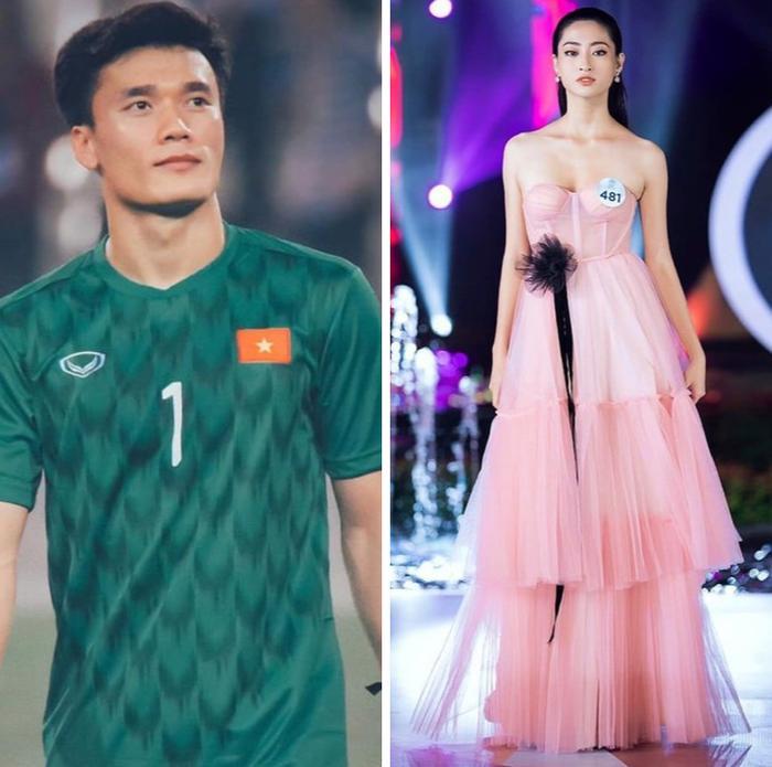 Hoa hậu Lương Thuỳ Linh theo dõi thủ môn Bùi Tiến Dũng trên Instagram là thông tin rất thú vị cho fan hâm mộ.