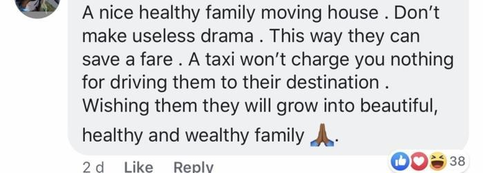 """""""Đừng có drama hóa chuyện của người ta, đi nhờ xe tiết kiệm được khối tiền thì có gì sai? Chúc cả nhà khỏe mạnh bình an và sống vui vẻ bên nhau nhé""""."""