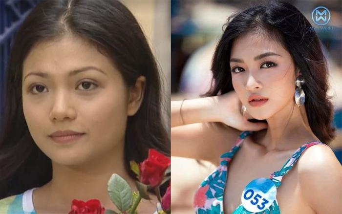 """Nhiều người nhận xét, nét đẹp của Kiều Loann (phải) có đôi chỗ hao hao Kiều Anh (trái) - người thủ vai Nhung trong """"Phía trước là bầu trời""""."""