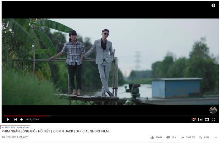 Khoảnh khắc đạt top 1 trending Youtube của phim ngắn Sóng gió.
