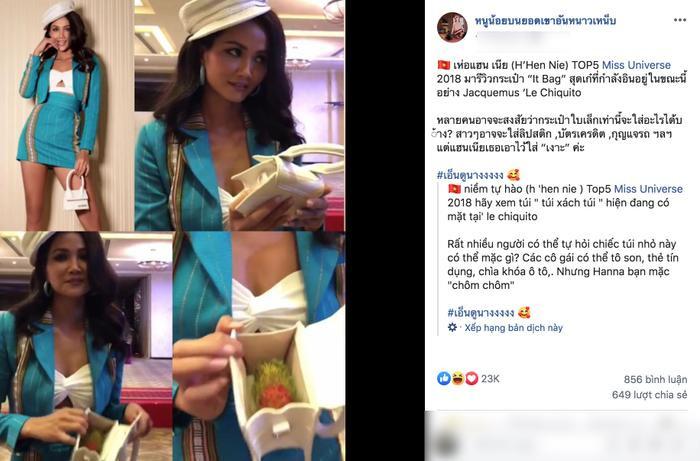 Fan Thái phát cuồng, bình luận rôm rả với hình ảnh HHen Niê đựng chôm chôm trong túi hiệu 12 triệu ảnh 0