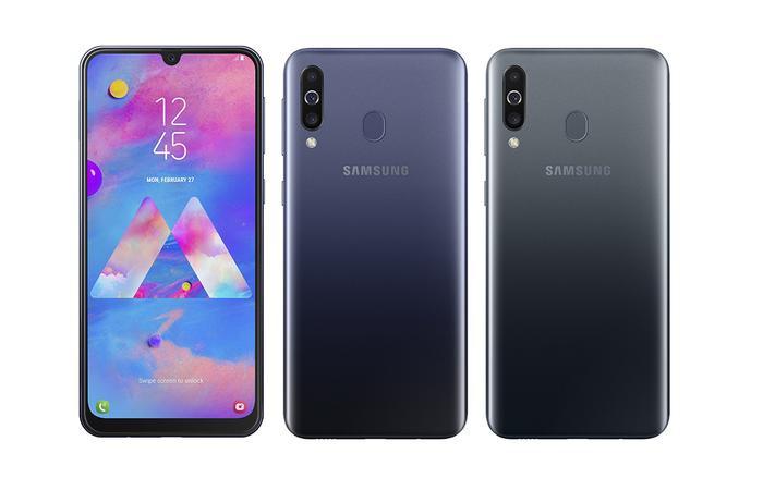 Galaxy M30 có điểm nhấn là màn hình vô cực Infinity-U, 3 camera sau và dung lượng pin 5.000 mAh.