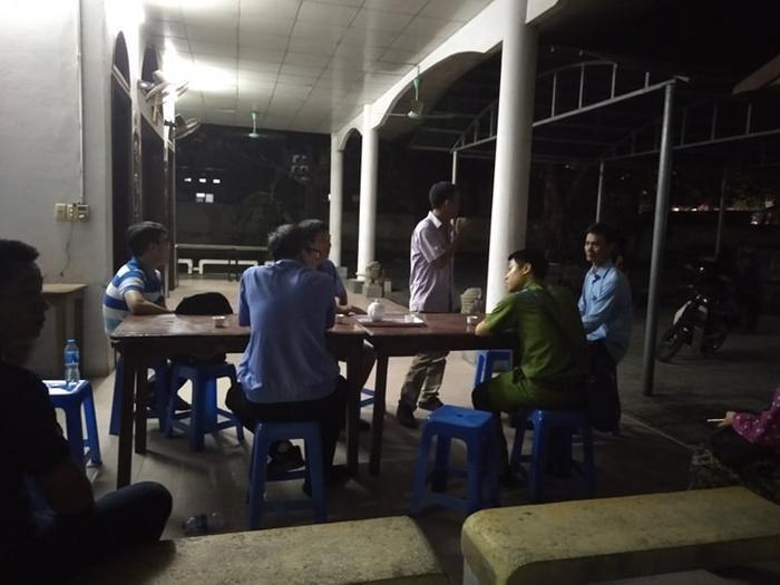 Lực lượng chức năng có mặt tại khu vực nhà xác bệnh viện E.